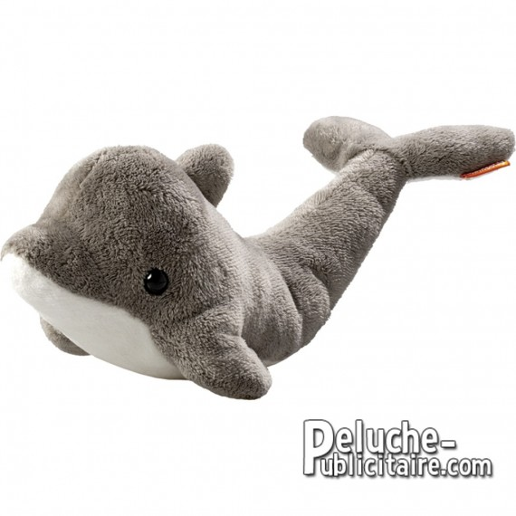 Purchase Dolphin plush 28 cm. Plush to customize.