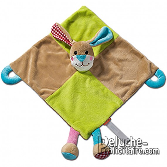 Doudou rabbit plush toy to customize with logo.