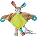 Rabbit doudou plush personalizable with your brand.
