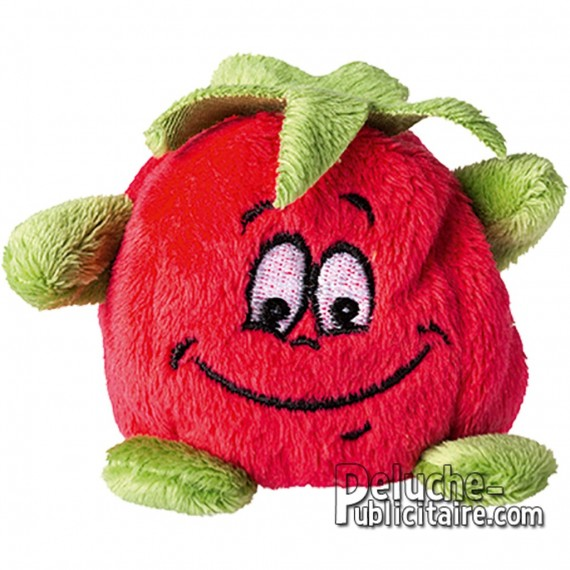 Purchase Tomato Plush 70x70mm. Plush to customize.