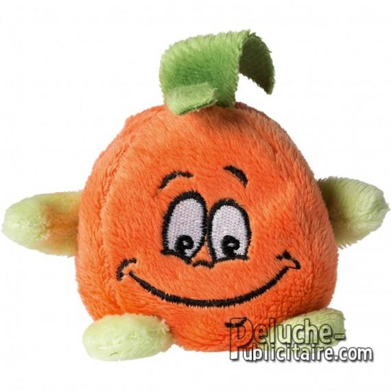 Achat Peluche Orange 70x70mm. Peluche à Personnaliser.