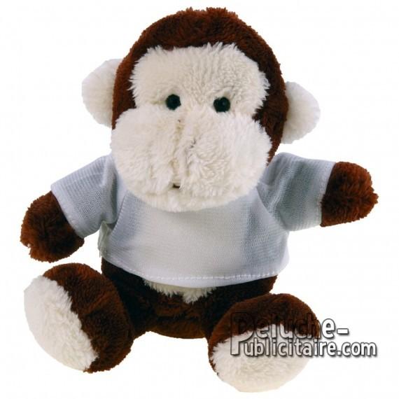 Purchase Monkey Plush 16 cm.Monkey plush toy to personalize.Ref: XP-1162