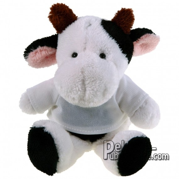 Achat Peluche Vache 16 cm. Peluche Publicitaire Vache à Personnaliser. Ref:XP-1163