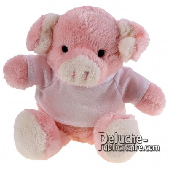 Achat Peluche Cochon 16 cm. Peluche Publicitaire Cochon à Personnaliser. Ref:XP-1164