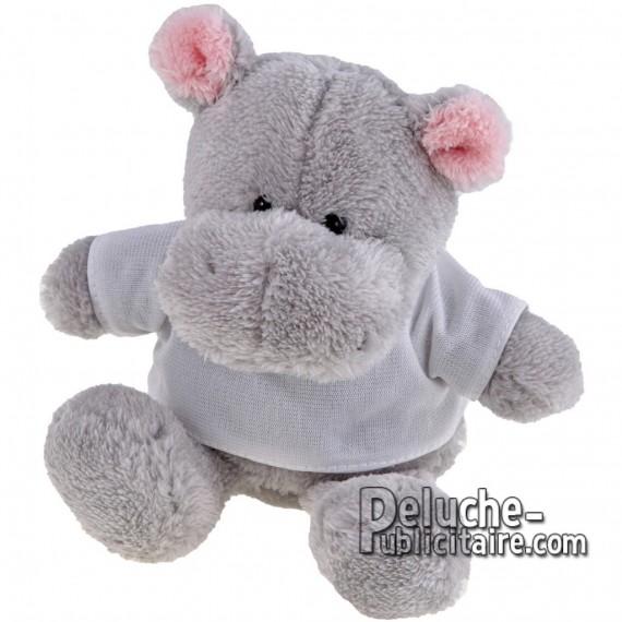 Achat Peluche Hippopotame 16 cm. Peluche Publicitaire Hippopotame à Personnaliser. Ref:XP-1166