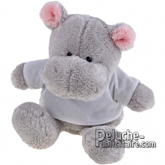 Buy Hippopotamus Plush 16 cm. Plush Advertising Hippopotamus to Customize. Ref: XP-1166