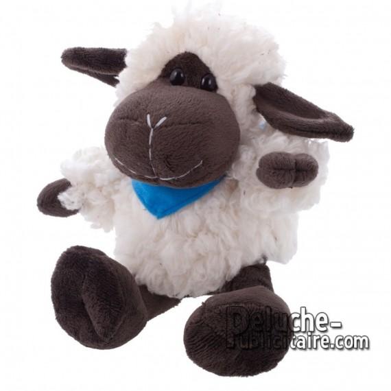 Achat Peluche Moutons 15 cm. Peluche Publicitaire Moutons à Personnaliser. Ref:XP-1180