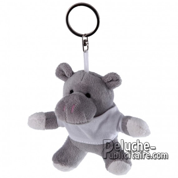Achat Peluche Hippopotame 10 cm. Peluche Publicitaire Hippopotame à Personnaliser. Ref:XP-1182