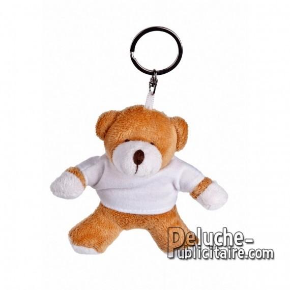 Achat Peluche Porte-clés Ours 10 cm. Peluche Publicitaire Ours à Personnaliser. Ref:XP-1183