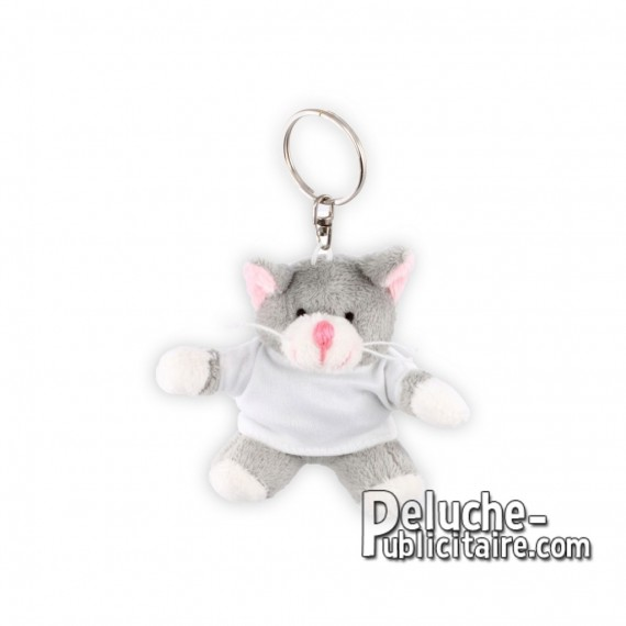 Buy Plush Cat Keychain 10 cm. Plush Advertising Cat to Personalize. Ref: XP-1185