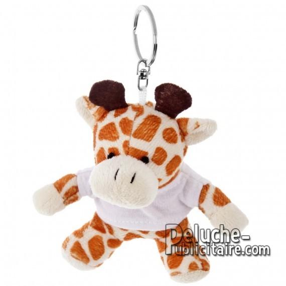 Achat Peluche Porte-clés Girafe 10 cm. Peluche Publicitaire Girafe à Personnaliser. Ref:XP-1186