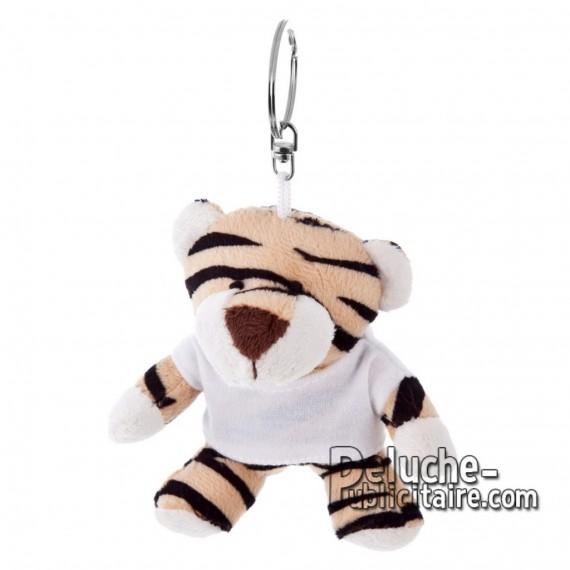Achat Peluche Porte-clés Tigre 10 cm. Peluche Publicitaire Tigre à Personnaliser. Ref:XP-1189