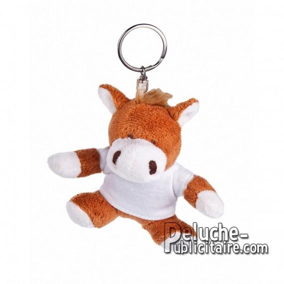 Achat Peluche Porte-clés Cheval 10 cm. Peluche Publicitaire Cheval à Personnaliser. Ref:XP-1190