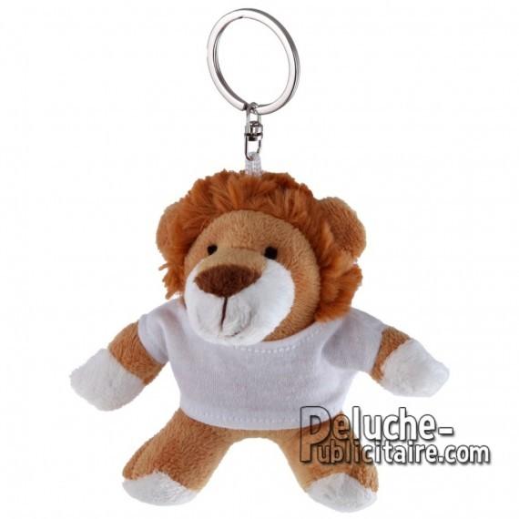 Achat Peluche Porte-clés Lion 10 cm. Peluche Publicitaire Lion à Personnaliser. Ref:XP-1194
