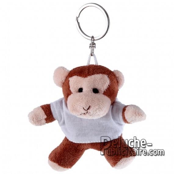 Buy Plush Keychain Monkey 10 cm.Monkey plush toy to personalize.Ref: 1195-XP