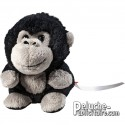 Singe ou gorille peluche personnalisée. Ajout de logo.