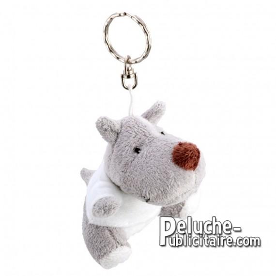 Achat Peluche Porte-clés Rhino 9 cm. Peluche Publicitaire Rhino à Personnaliser. Ref:XP-1198