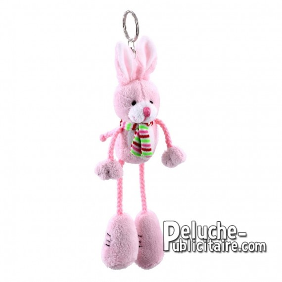 Achat Peluche Porte-clés Lapin 17 cm. Peluche Publicitaire Lapin à Personnaliser. Ref:XP-1199