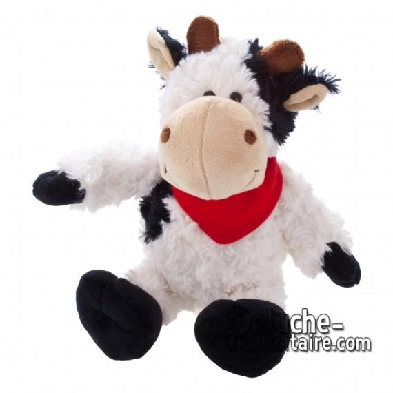 Achat Peluche Vache 20 cm. Peluche Publicitaire Vache à Personnaliser. Ref:XP-1201
