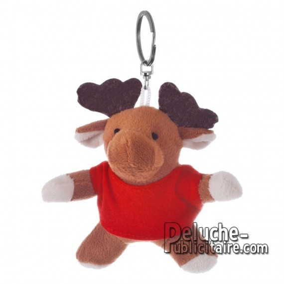 Buy Plush Keychain Reindeer 10 cm.Reindeer Plush Toy to Personalize.Ref: XP-1212