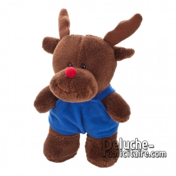 Purchase Reindeer Plush 14 cm.Reindeer Plush Toy to Personalize.Ref: XP-1213