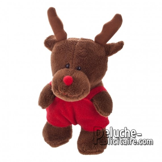 Purchase Reindeer Plush 14 cm. Reindeer Plush Toy to Personalize. Ref: XP-1214