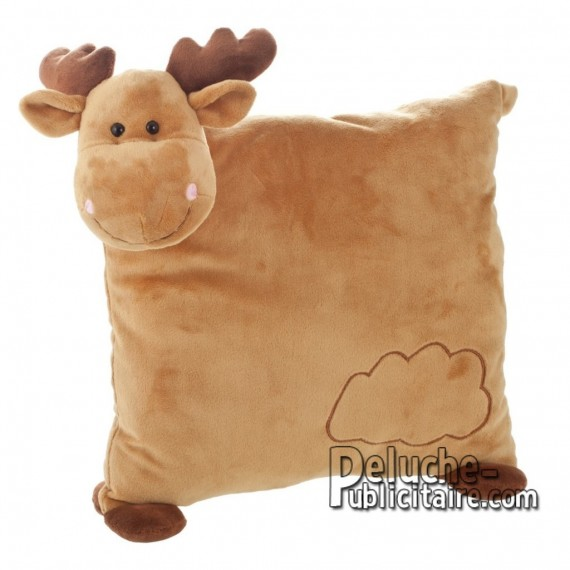 Purchase Plush Reindeer pillow 30 cm. Plush Advertising Pillow Reindeer Personalized. Ref: XP-1219