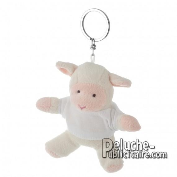 Achat Peluche Porte-clés Mouton 10 cm. Peluche Publicitaire Mouton à Personnaliser. Ref:XP-1222