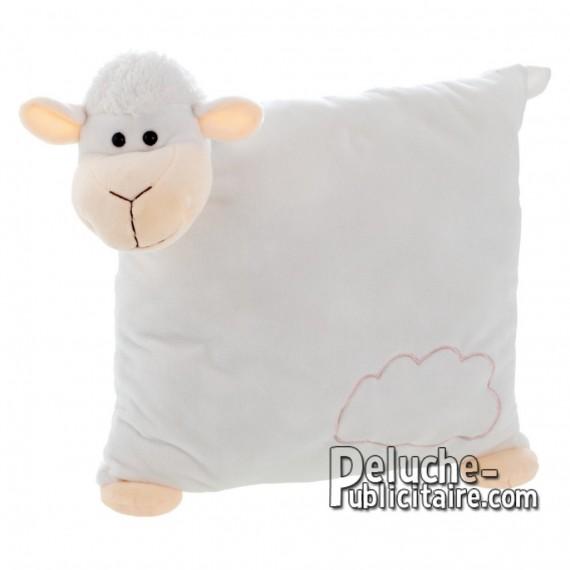 Achat Peluche Oreiller mouton 30 cm. Peluche Publicitaire Oreiller mouton à Personnaliser. Ref:XP-1225