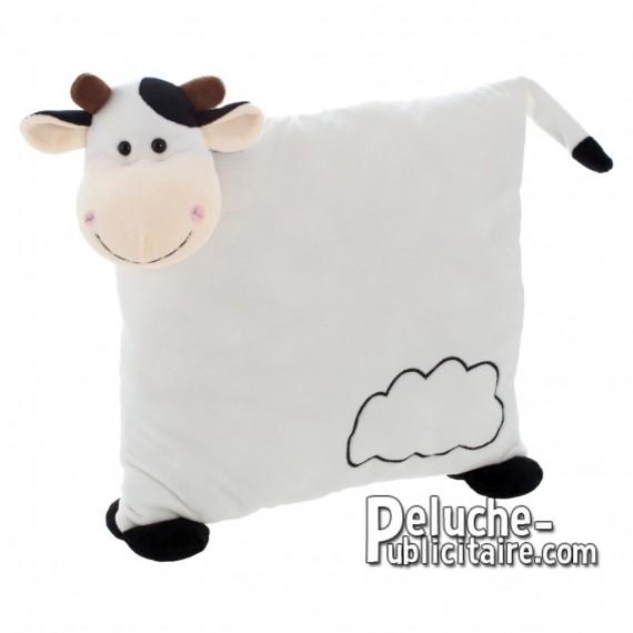 Achat Peluche Oreiller vache 30 cm. Peluche Publicitaire Oreiller vache à Personnaliser. Ref:XP-1227