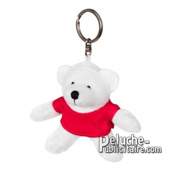 Achat Peluche Porte-clés Ours 10 cm. Peluche Publicitaire Ours à Personnaliser. Ref:XP-1229