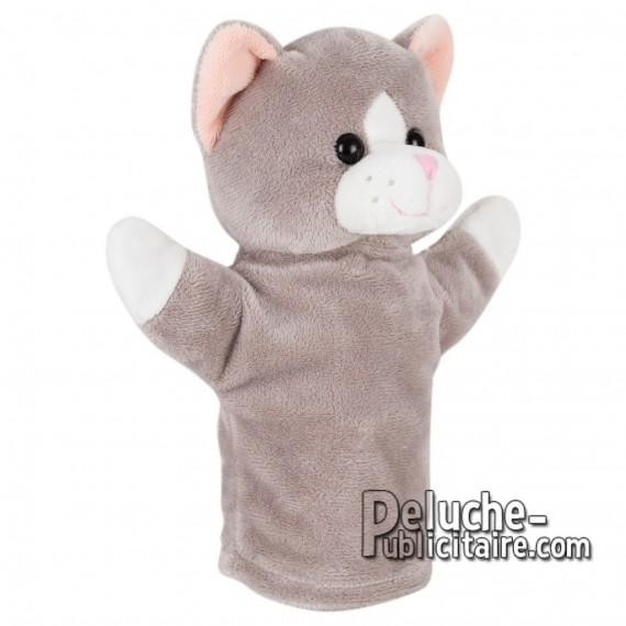 Achat Peluche Marionette chat 23 cm. Peluche Publicitaire Marionette chat à Personnaliser. Ref:XP-1232