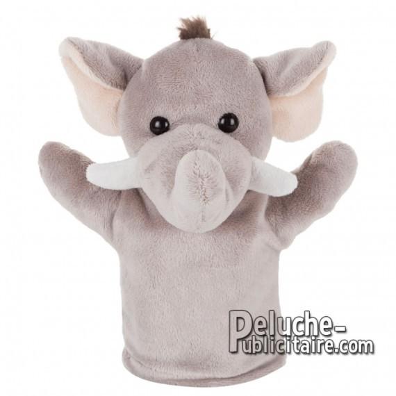 Achat Peluche Marionnette elephant 23 cm. Peluche Publicitaire Marionnette elephant à Personnaliser. Ref:XP-1235