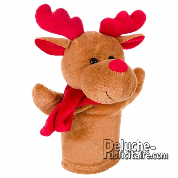 Purchase Stuffed puppet reindeer 23 cm.Plush Advertising Puppet Reindeer Personalized.Ref: XP-1237