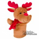 Purchase Stuffed puppet reindeer 23 cm. Plush Advertising Puppet Reindeer Personalized. Ref: XP-1237