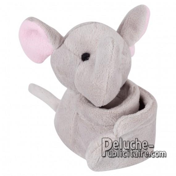 Achat Peluche Bracelet éléphant 25 x 10 cm. Peluche Publicitaire Bracelet éléphant à Personnaliser. Ref:XP-1238
