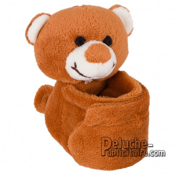 Achat Peluche Bracelet ours 25 x 9 cm. Peluche Publicitaire Bracelet ours à Personnaliser. Ref:XP-1240