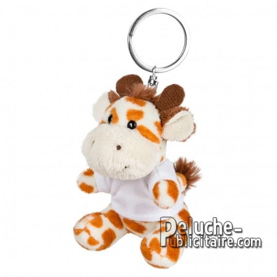 Achat Peluche Porte-clés Girafe 8 cm. Peluche Publicitaire Girafe à Personnaliser. Ref:XP-1245