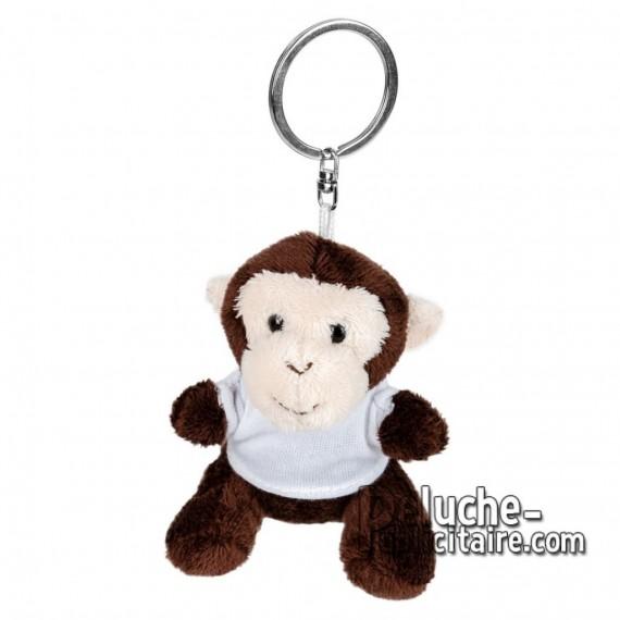 Achat Peluche Porte-clés singe 8 cm. Peluche Publicitaire singe à Personnaliser. Ref:XP-1246