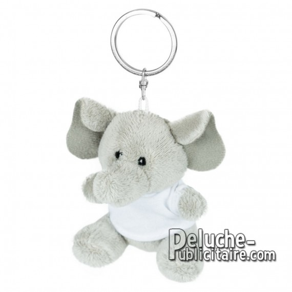 Achat Peluche Porte-clés éléphant 8 cm. Peluche Publicitaire éléphant à Personnaliser. Ref:XP-1247
