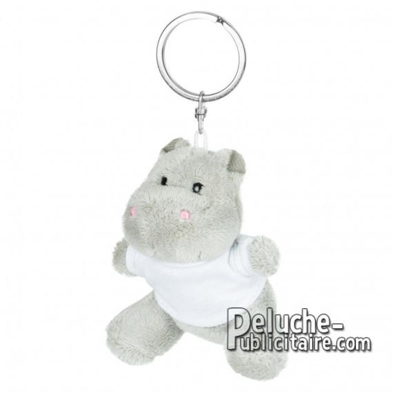 Achat Peluche Porte-clés Hippopotame 8 cm. Peluche Publicitaire Hippopotame à Personnaliser. Ref:XP-1248