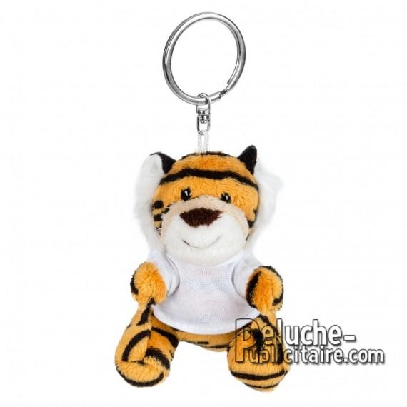 Achat Peluche Porte-clés tigre 8 cm. Peluche Publicitaire tigre à Personnaliser. Ref:XP-1249