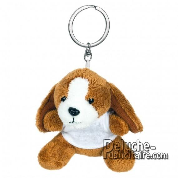 Achat Peluche Porte-clés chien 8 cm. Peluche Publicitaire chien à Personnaliser. Ref:XP-1250