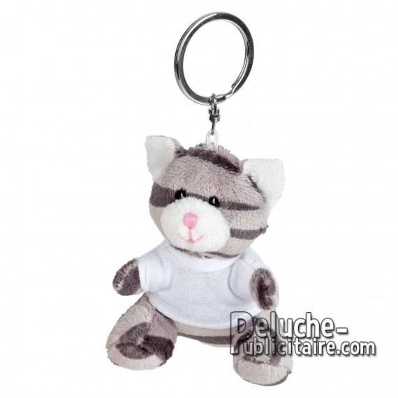 Achat Peluche Porte-clés chat 8 cm. Peluche Publicitaire chat à Personnaliser. Ref:XP-1251