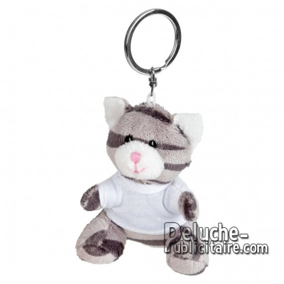 Buy Plush Cat keychain 8 cm. Plush Advertising Cat to Personalize. Ref: XP-1251