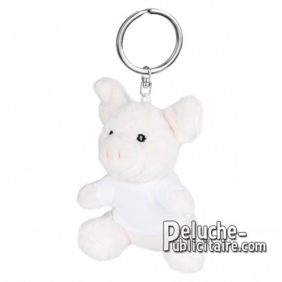 Achat Peluche Porte-clés cochon 8 cm. Peluche Publicitaire cochon à Personnaliser. Ref:XP-1252