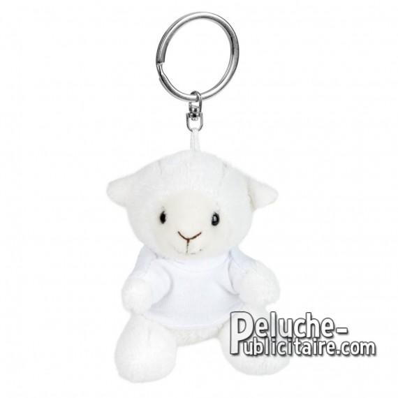 Achat Peluche Porte-clés mouton 8 cm. Peluche Publicitaire mouton à Personnaliser. Ref:XP-1253
