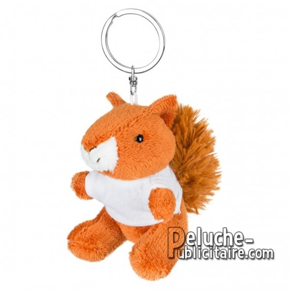 Achat Peluche Porte-clés écureuil 8 cm. Peluche Publicitaire écureuil à Personnaliser. Ref:XP-1254