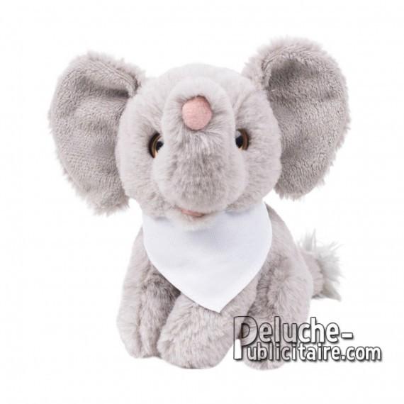 Achat Peluche éléphant 14 cm. Peluche Publicitaire éléphant à Personnaliser. Ref:XP-1260