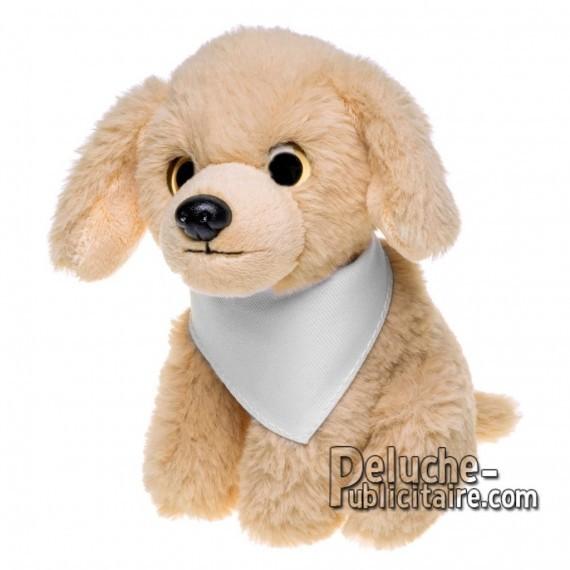 Achat Peluche chien 14 cm. Peluche Publicitaire chien à Personnaliser. Ref:XP-1261